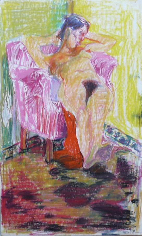Nude Drawing - Nude Woman V by Galya Tarmu