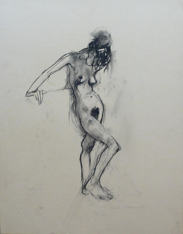 Woman Nude Drawing - Nude Woman VII by Galya Tarmu