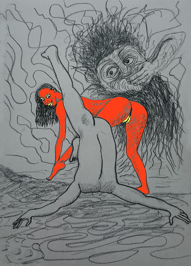 Nudes Invite To Roars Of Laughter Drawing