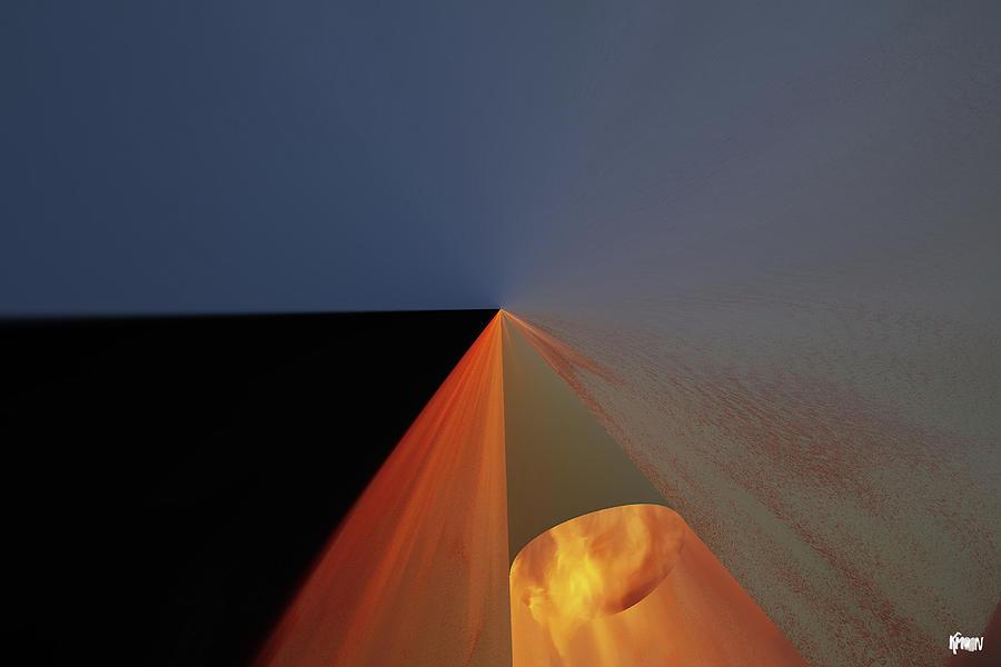 Digital Digital Art - Nuit bleue by The KMoon