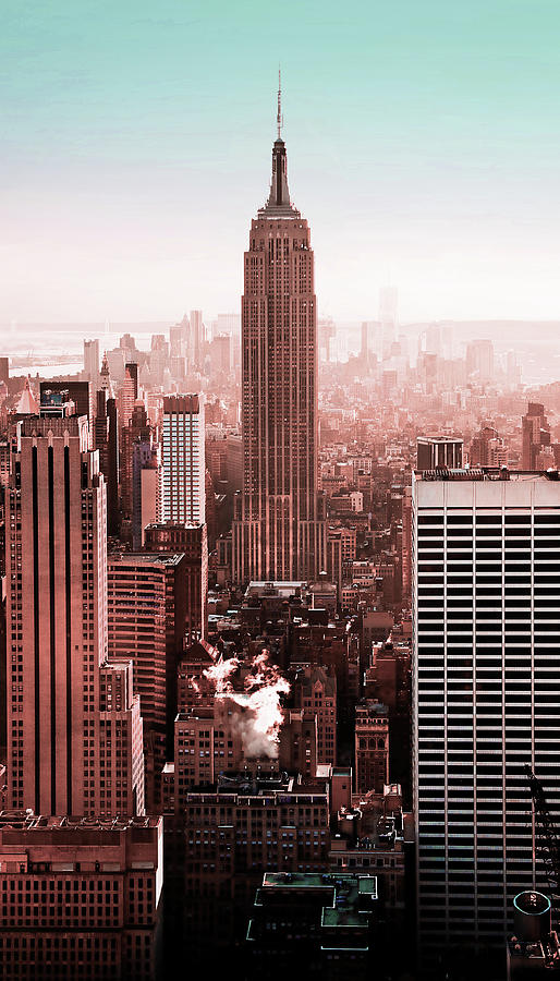 Nyc Skyline, New York, United States 5 - Surreal Art By Ahmet Asar Digital Art