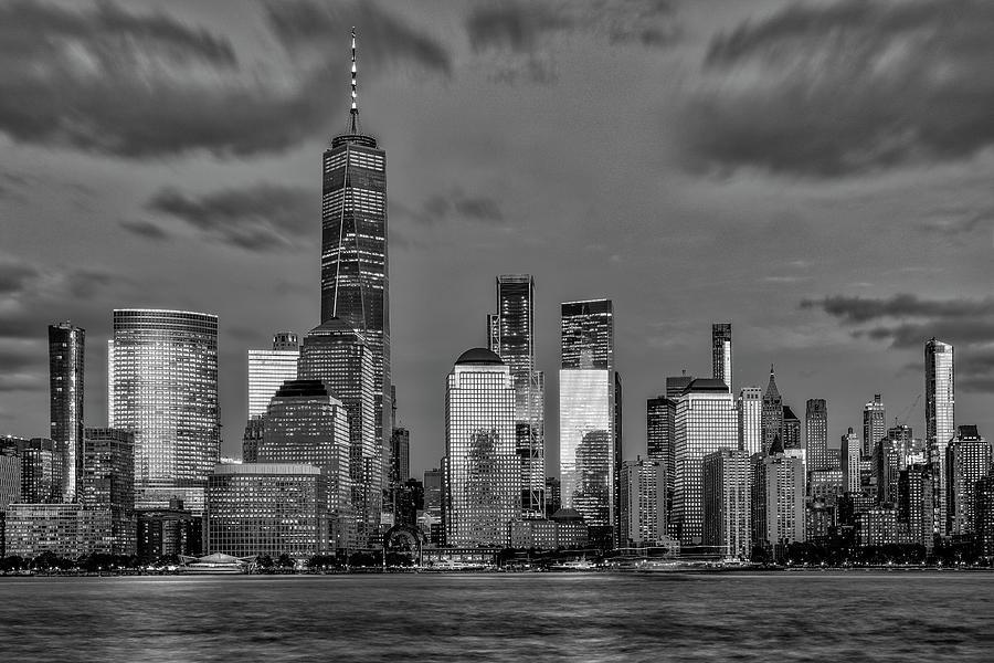 NYC Skyline Twilight BW by Susan Candelario