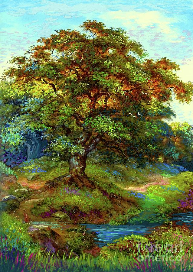 Landscape Painting - Oak Tree Tranquility by Jane Small