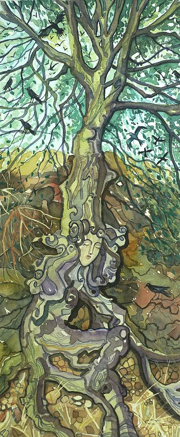 Oaktree Lady Of Lake Vista Painting