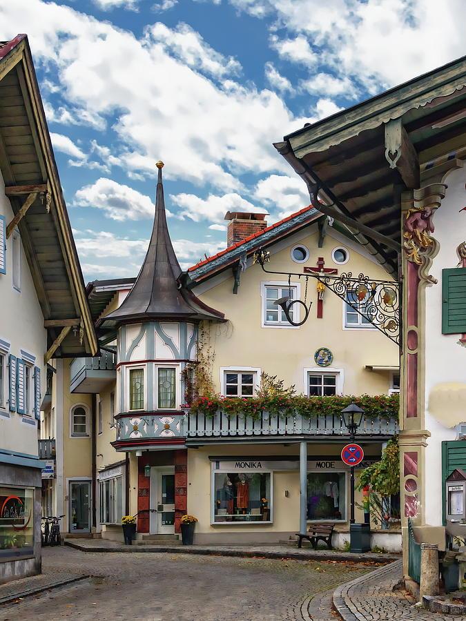 Oberammergau Street Scene by Anthony Dezenzio