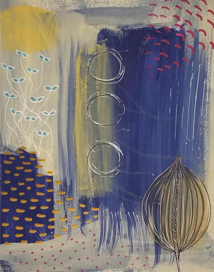 Blue Painting - Ocean Bloom by Michal Mitak