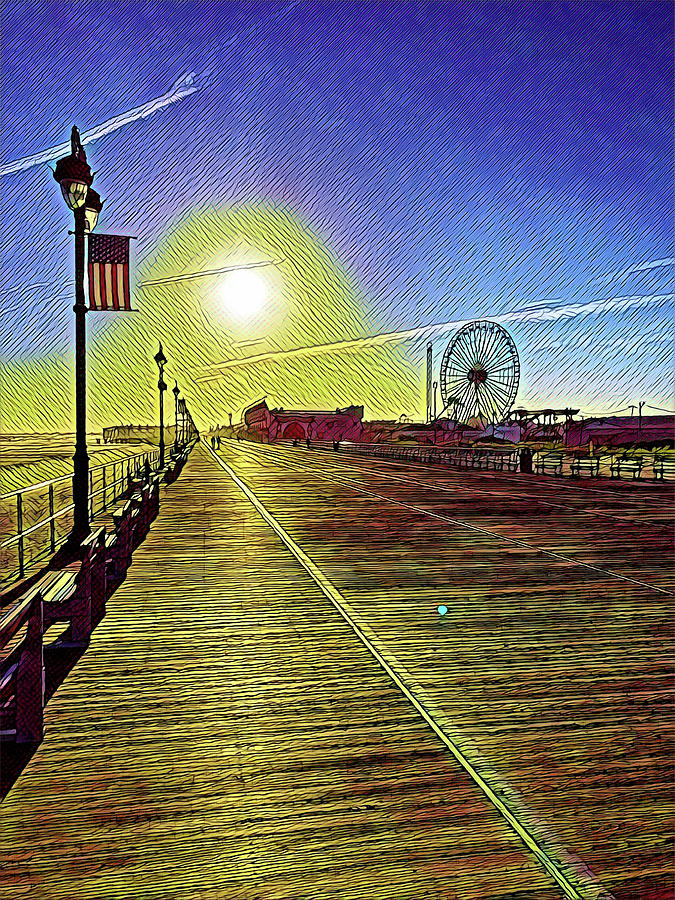 Ocean City Nj Boardwalk Solitude Digital Art