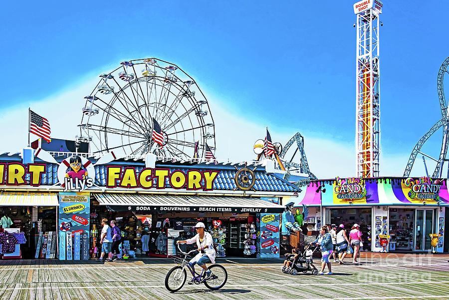 Ocean City Nj Boardwalk Scene Photograph