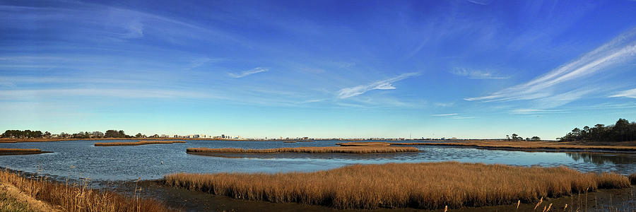 Ocean City Skyline Panorama from Assawoman Bay by Bill Swartwout Photography