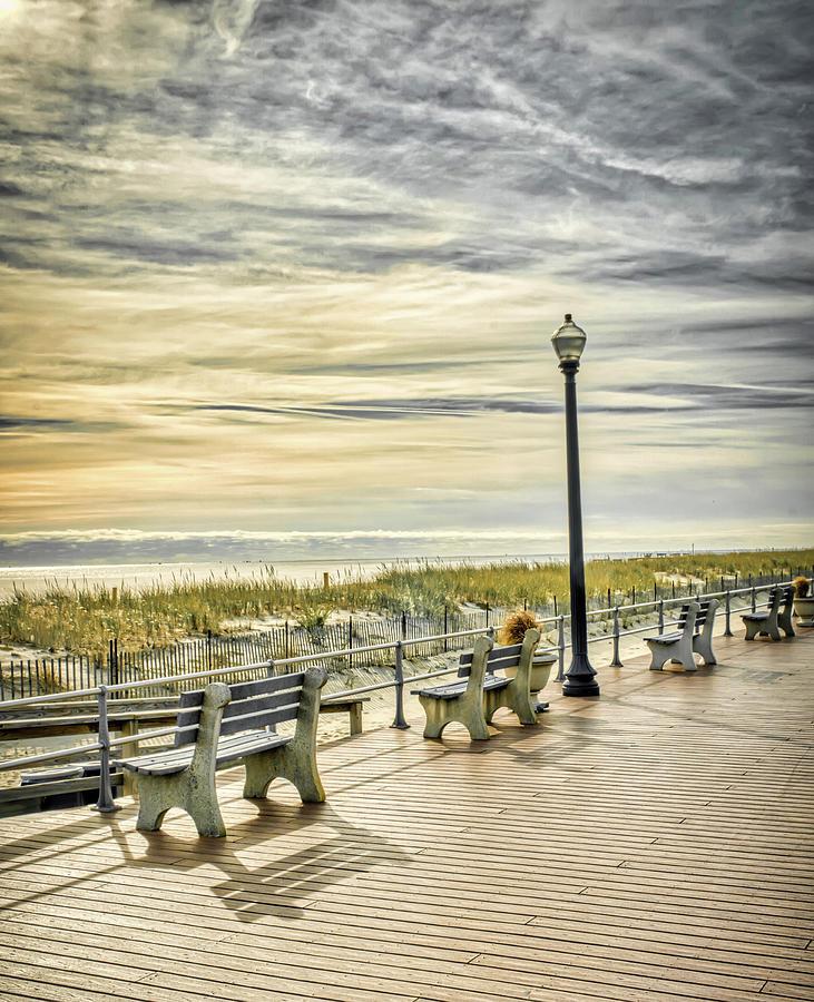 Ocean Grove Boadwalk Morning by Gary Slawsky