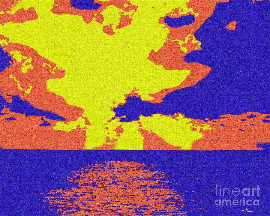 Ocean Painting - Ocean Late Sky by Jack Bunds