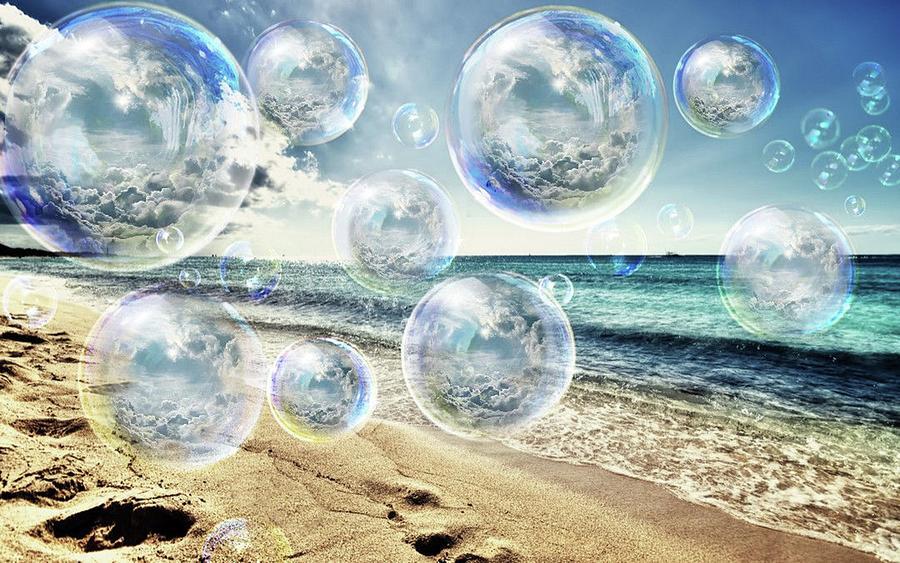 Ocean Pop Bubble Dreams Mixed Media