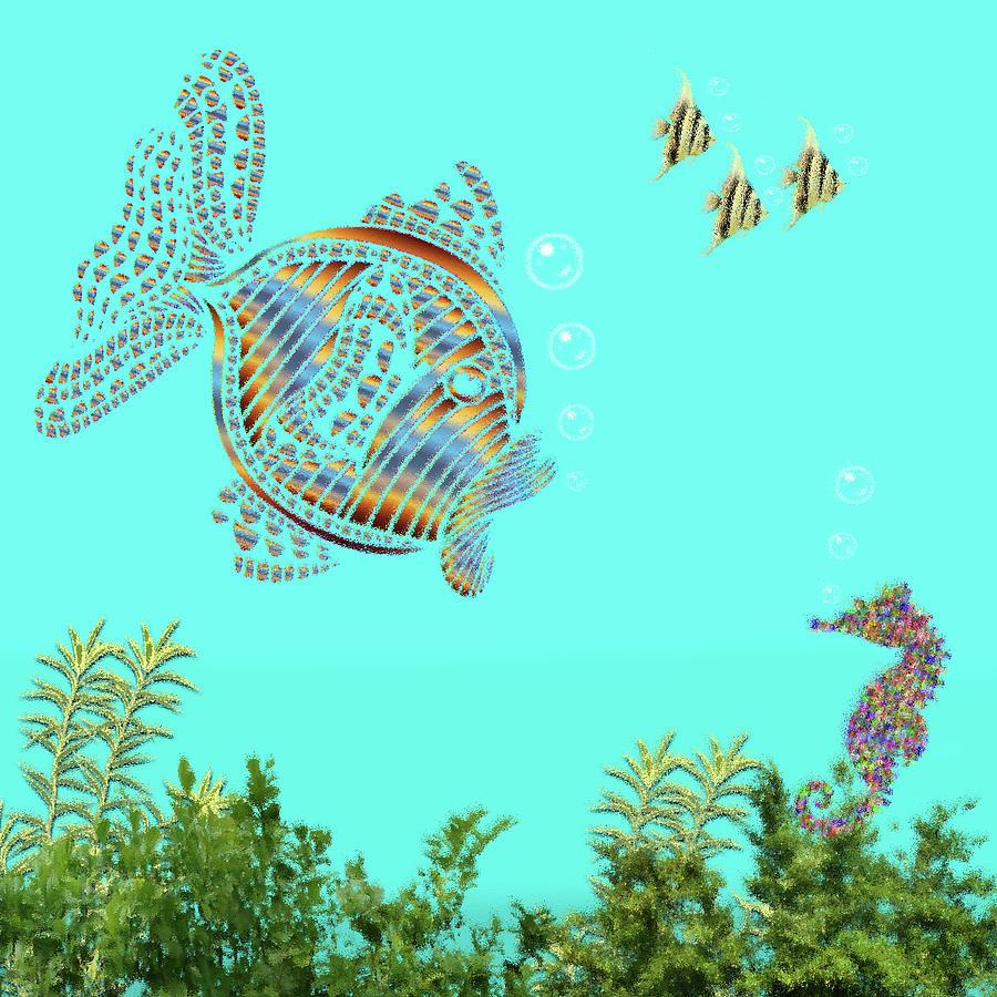 Ocean Ripple Pane 7 The Seahorse Digital Art