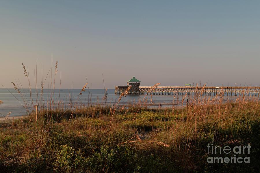 Ocean View - Folly Beach Pier - Charleston Sc Photograph