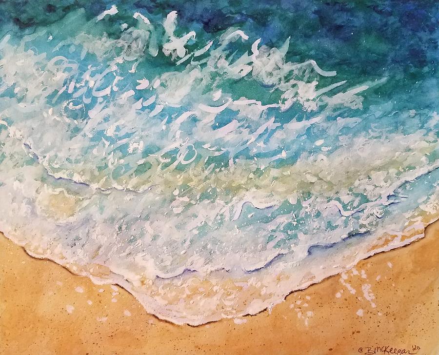 Ocean Wave Painting - Ocean Wave by Bonnie McKeegan