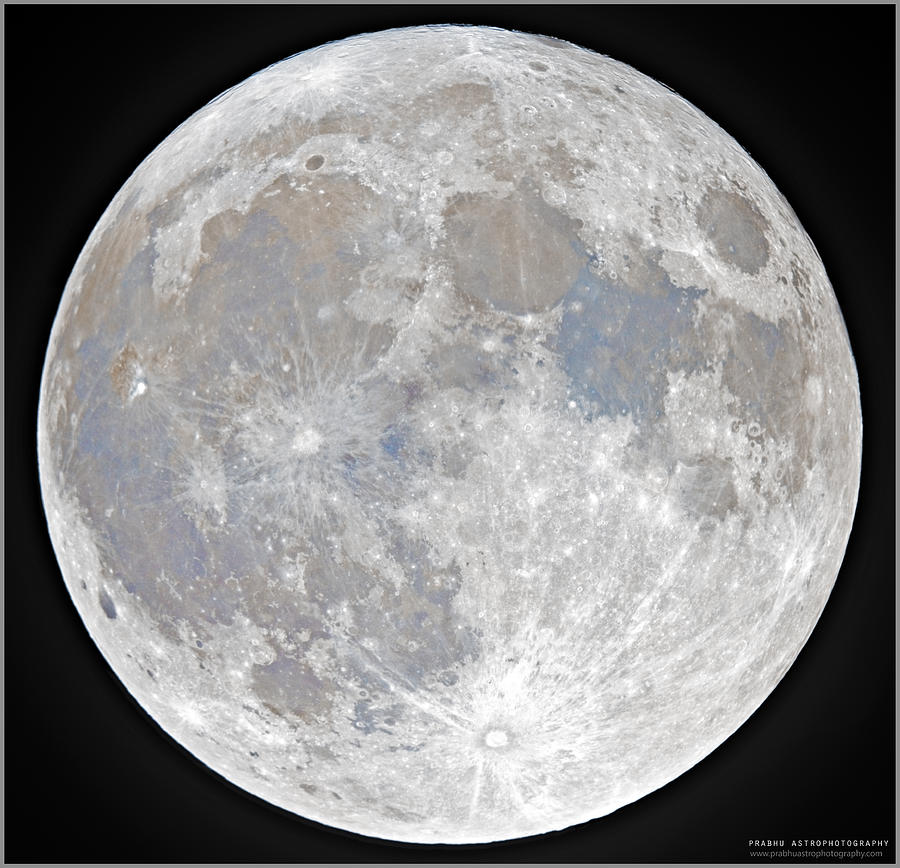 Fullmoon Photograph - October 2020 Halloween Full/Blue Moon by Prabhu Astrophotography