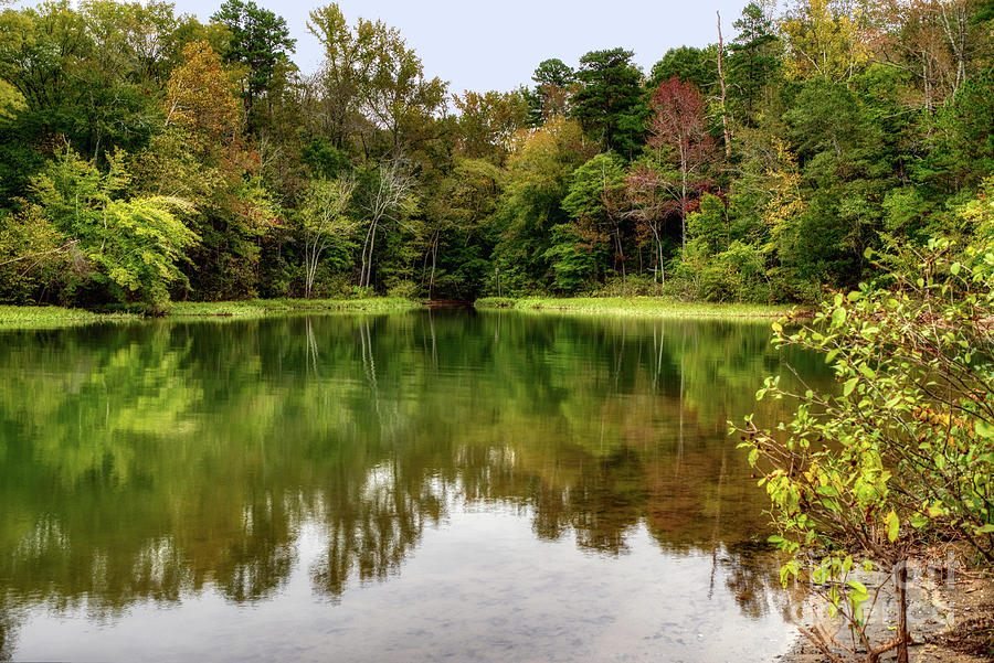 October Color at Mountain Island Lake by Amy Dundon