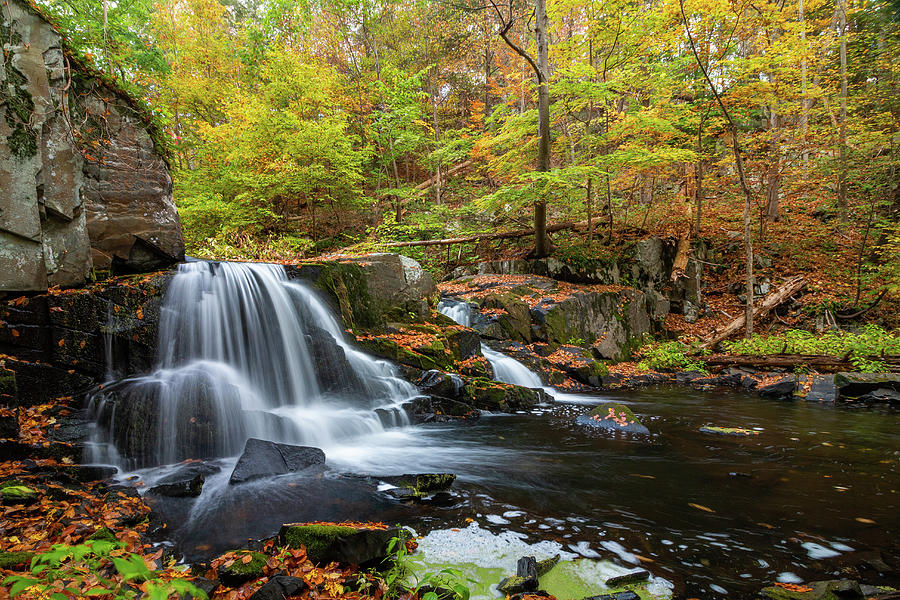 Hudson Valley Photograph - October Morning at Middle Falls by Jeff Severson