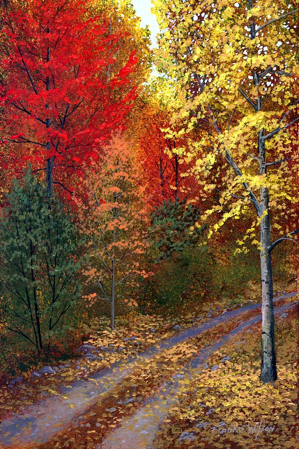 Landscape Painting - October Road by Frank Wilson