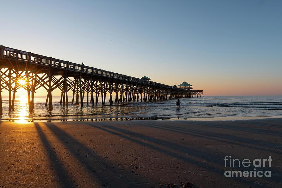 October Sunrise - Folly Beach Pier Photograph