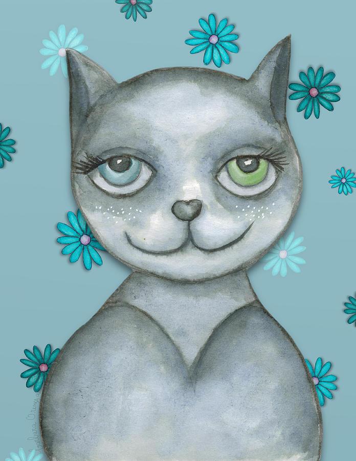 Odd-eyed Kitty by Barbara Orenya