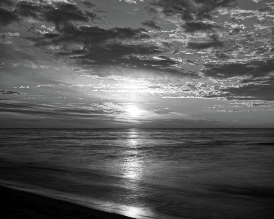 Ode To Sunsets Black and White by Kathi Mirto