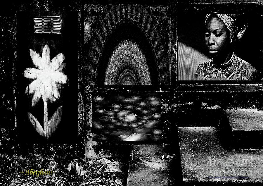 Singers Mixed Media - Ode to the Genius and Good Intentions of Nina Simone Number 1 by Aberjhani