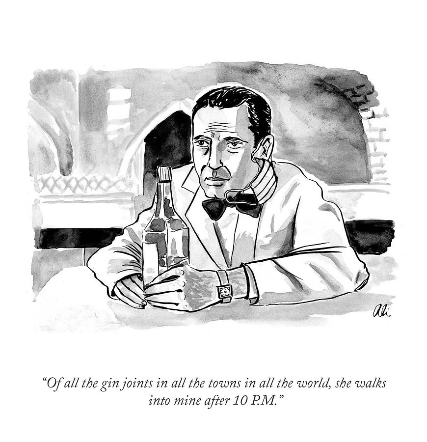 Of All The Gin Joints Drawing by Ali Solomon