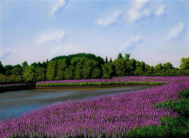 Purple Pastel - Off Scotland Road by Anthony Petchkis