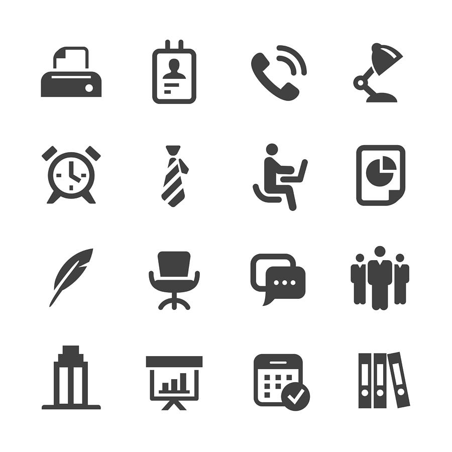 Office Icons - Acme Series Drawing by -victor-