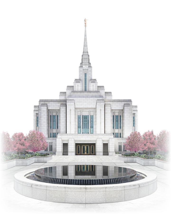 Ogden Digital Art - Ogden Temple - Celestial Series by Brent Borup