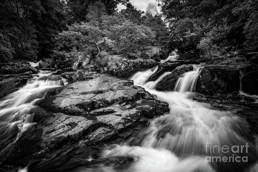 Ogwen Bank Falls by Adrian Evans