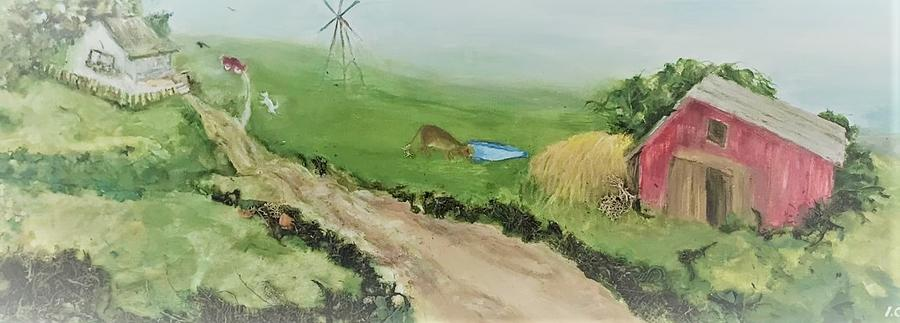 Farm Painting - Oh Give Me a Home by Irene Corey