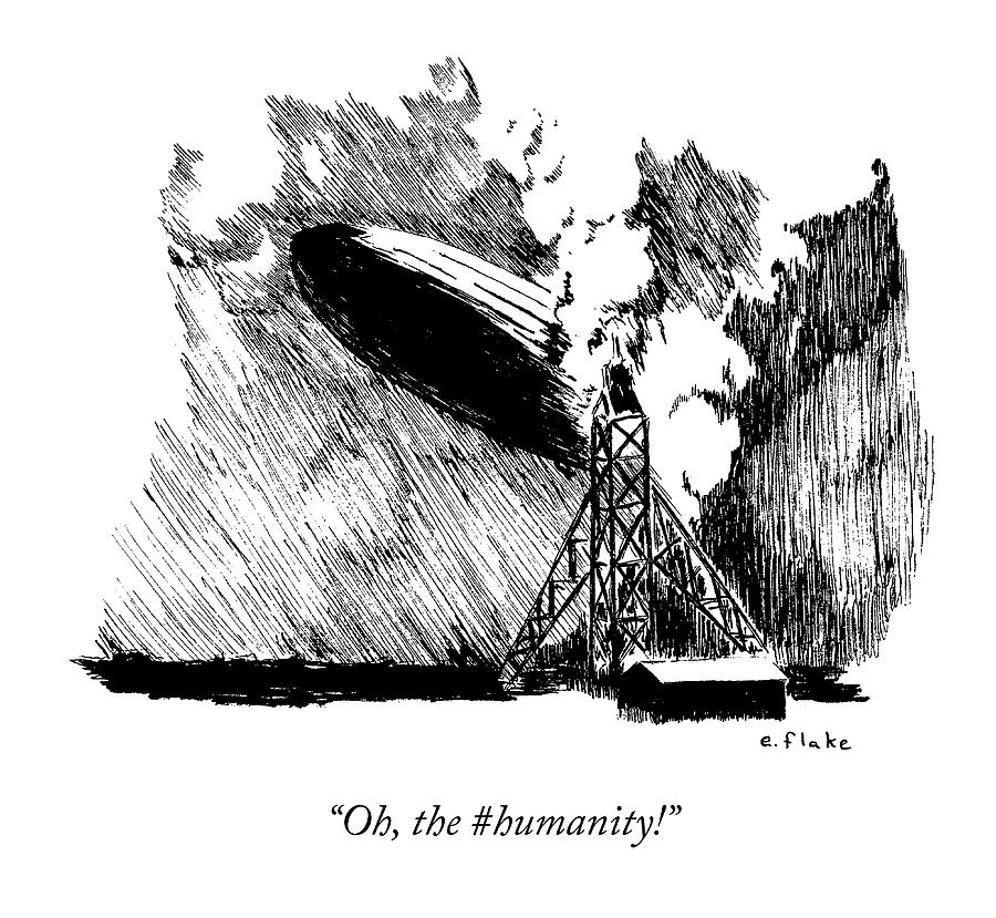 Oh, The Humanity Drawing by Emily Flake