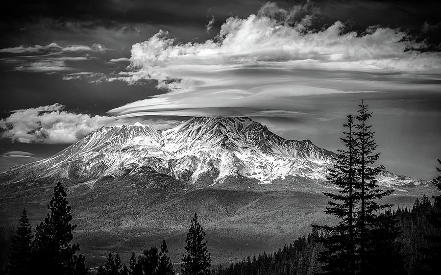 Oh Those Clouds In Black And White Photograph