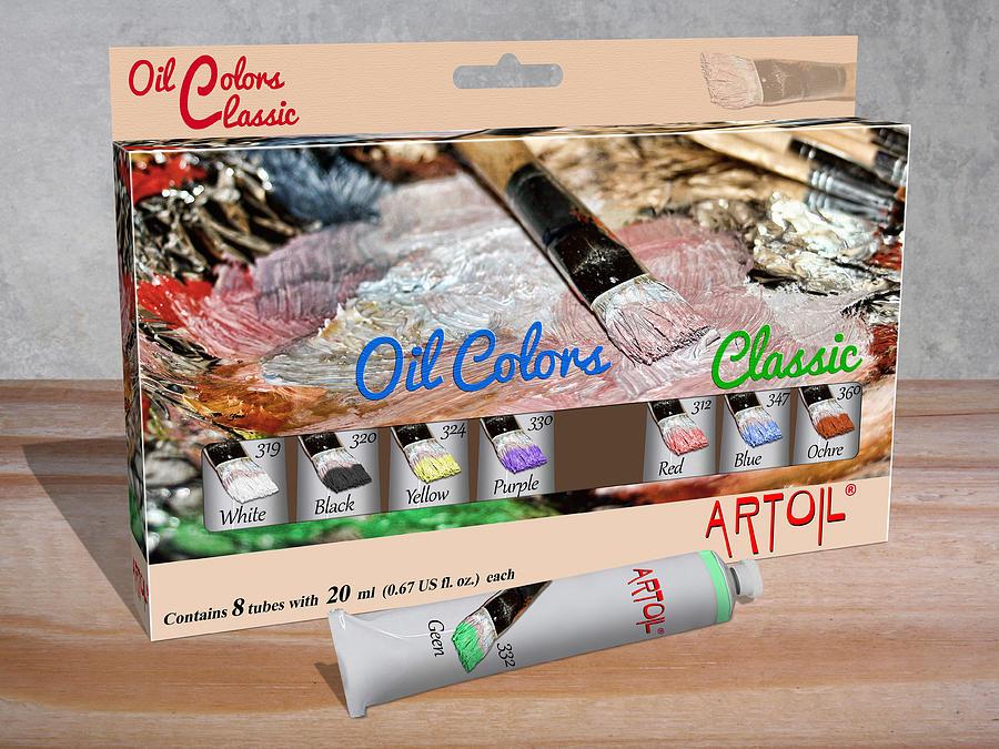 Oil Paint Starter Kit Digital Art