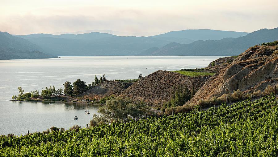 Okanagan Lake Twilight Photograph