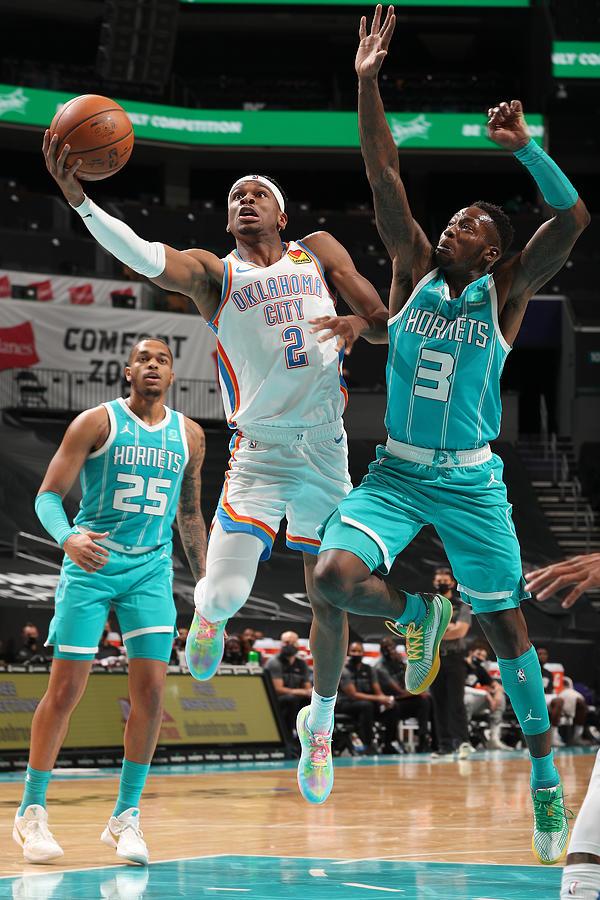 Oklahoma City Thunder v Charlotte Hornets Photograph by Kent Smith