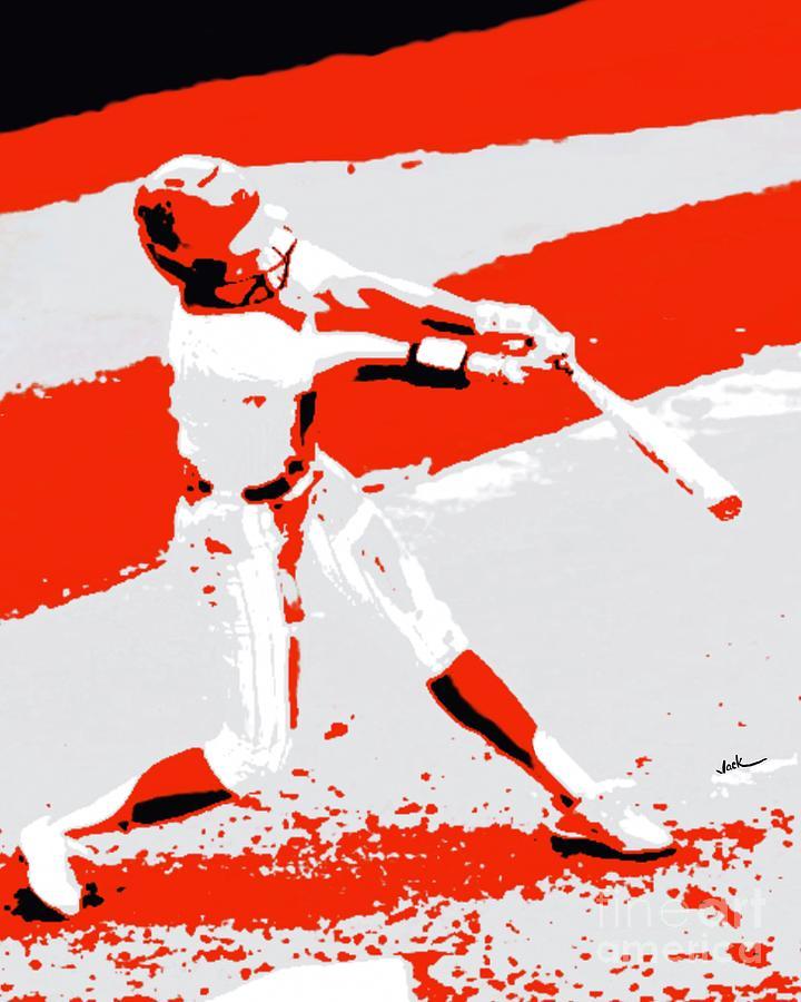 Osu Painting - Oklahoma State Softball  by Jack Bunds