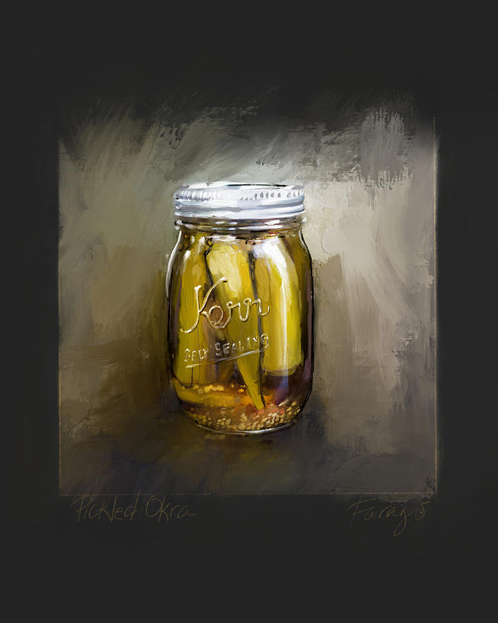 Okra Painting by Peter Farago