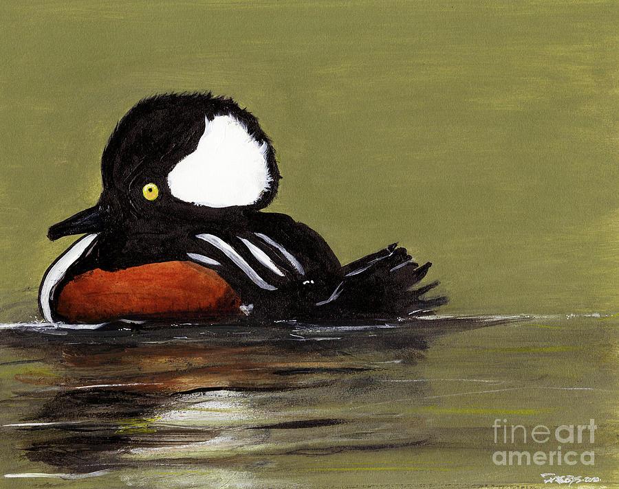 Ducks Painting - Ol Big Head by Kevin Scott Jacobs