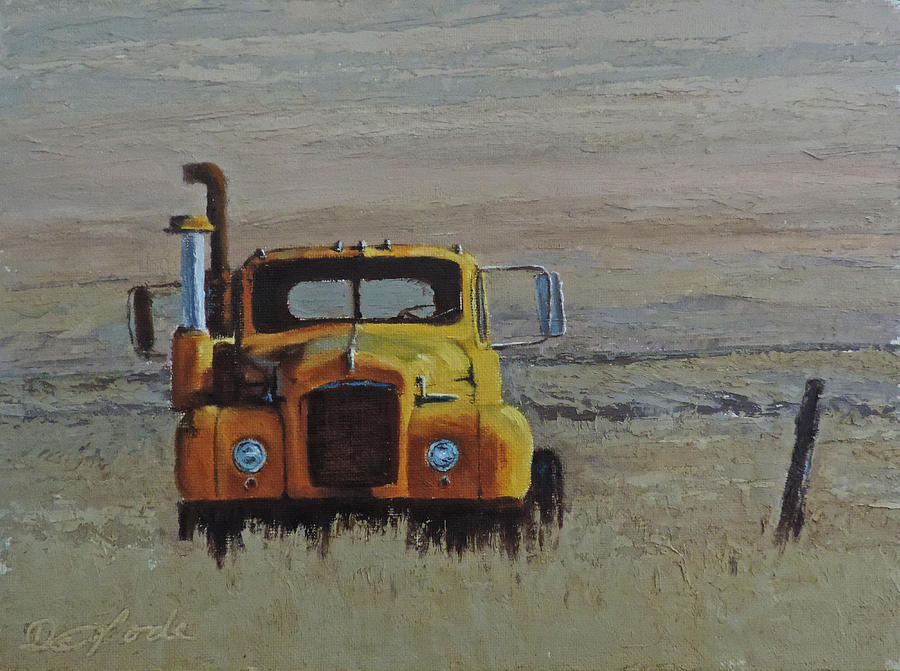 Mack Truck Painting - Ol Yeller by Mia DeLode