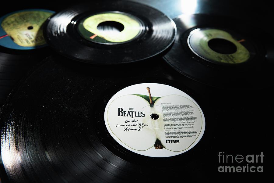 Old Beatles vinyl records  by Joaquin Corbalan