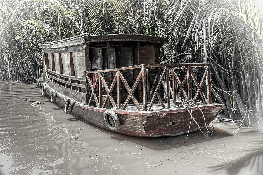 Old Boat on the Mekong by Rich Isaacman