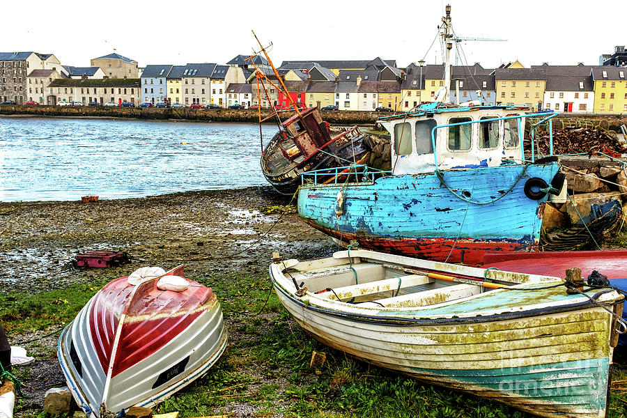 Old Boats in Galway by John Rizzuto