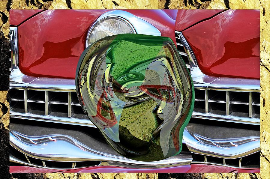 Old car painting box little planet as art by Karl Rose
