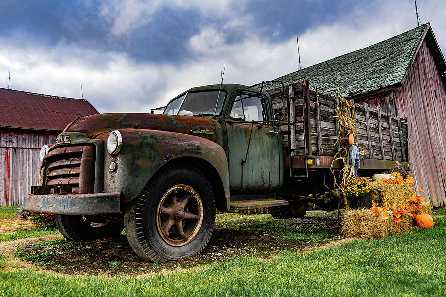 Landscape Photograph - Old Chevy Farm Truck by Scott Smith