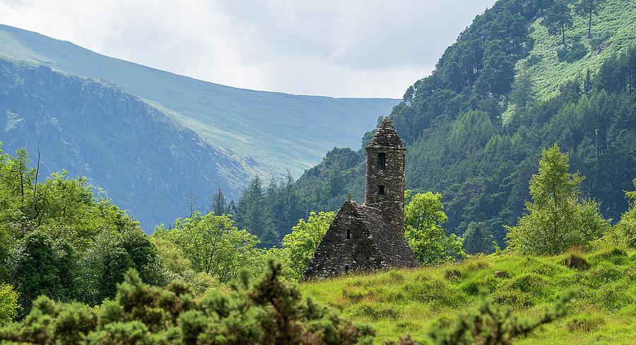 Church Photograph - Old Church, Glendalough by Laurent G Paoli