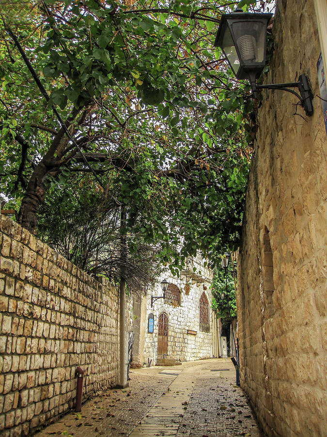 Old city alley way Israel  by Alon Mandel