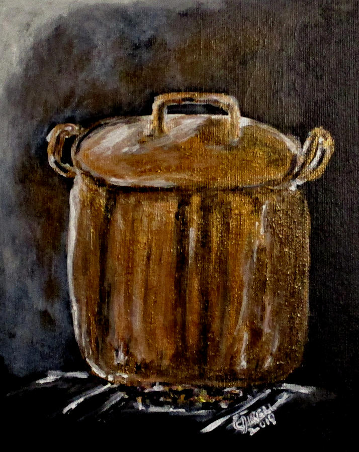 Old Copper Pot by Clyde J Kell